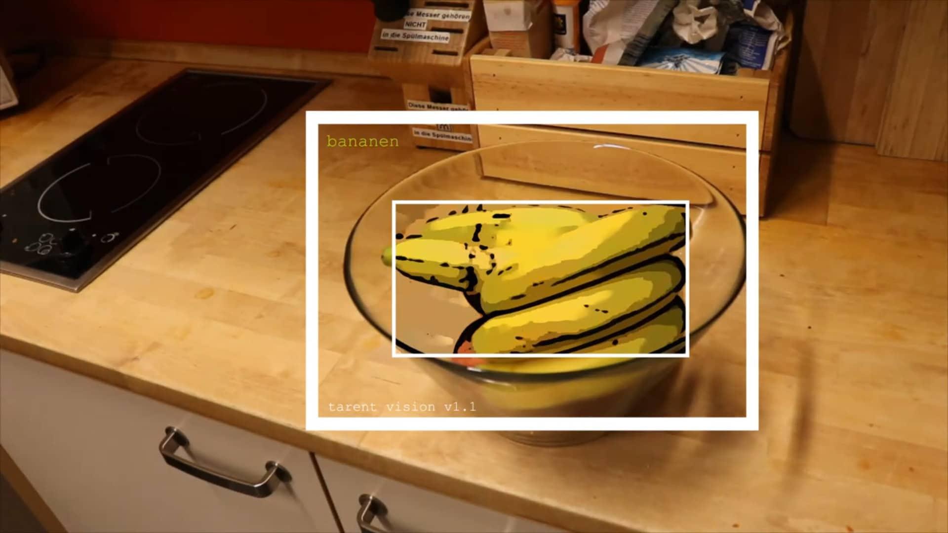 Obst durch eine automatisierte Objekterkennung laufen lassen, um es z.B. für eine Lebensmittellieferung korrekt und ohne menschliches Zutun zu sortieren.